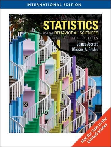 Statistics for the Behavioral Sciences, International Edition