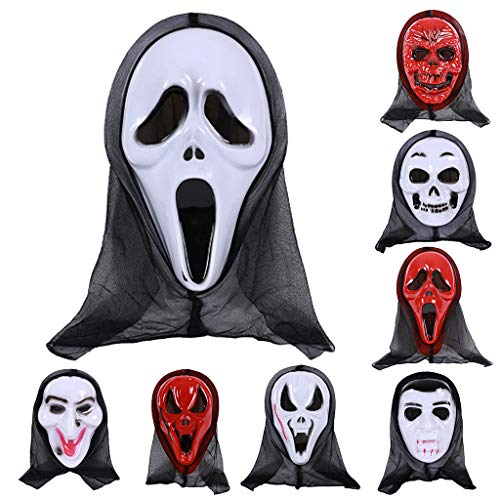 Freshsell Halloween Maske Totenkopf Geist Gruselig Terror Schrei Maskerade Party Cosplay Kostüm