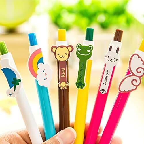 material para la escuela kawaii Hosaire 1 Pcs Bolígrafo de tinta de gel Cute dibujos animados coreano Pin Tipo Wholesale kawaii papelería Estilo de Color al Azar