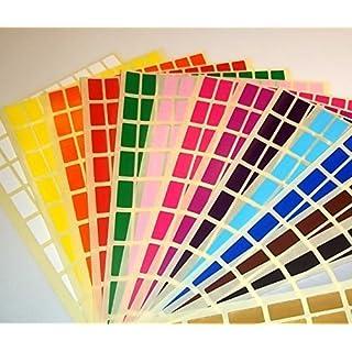 Audioprint Ltd. 10 x 20mm Rechteckige Farben Code Auszeichnungs Punkte Blank Preis Sticker Etiketten - Schwarz, 10 x 20mm