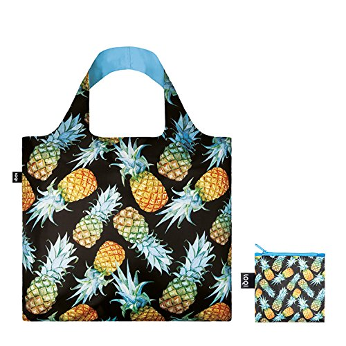 JUICY Lemons Bag: Gewicht 55 g, Größe 50 x 42 cm, Zip-Etui 11 x 11.5 cm, handle 27 cm, water resistant, made of polyester, OEKO-TEX certified, can carry up to 20 kg Pineapples