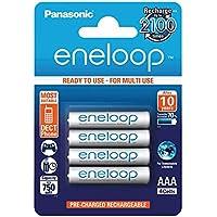 Panasonic ENELOOP Blister con 4 Batterie Ministilo AAA Ricaricabili
