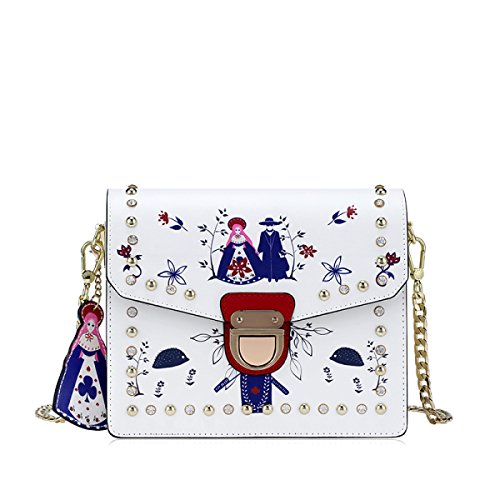 FZHLY Damen-Ketten-Umhängetasche-Karikatur-Umhängetasche Single-shoulder Bag Anime
