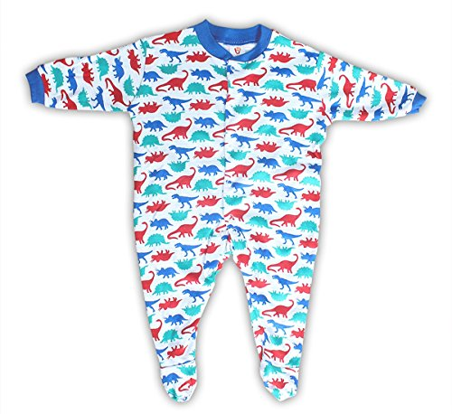 Baby Station Baby Cotton Long Sleeve Sleep Suit Romper Set of 3 (0-3 Months, Unisex)