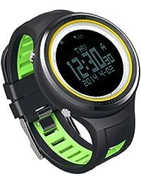 Rosepoem Altímetro Brújula Reloj podómetro Deportes al aire libre los hombres del reloj FR800NB Correa de silicona Muñeca relojes deportivos Reloj digital Para la escalada de montaña que recorre Camin