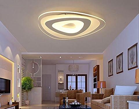 Jingzou LED warmweiß Deckenleuchte Schlafzimmer Leuchte Flur Deckenlampe Badlampe Energiespar Lampe 20*20*4CM 19W