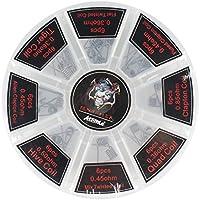 A1 prediseñadas Bobina Kit, Atemto 8-en-1 para RDA RBA RDTA E Cigarette Alien Clapton Coil, Fused Clapton Coil, Tiger Coil, Clapton Coil, Mix Twisted Coil, Hive Coil, Quad Coil, Flat Twisted Coil