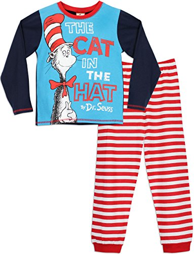 Dr Seuss Le Chat Chapeaute - Ensemble De Pyjamas - Cat in The Hat - Garçon Dr. Seuss