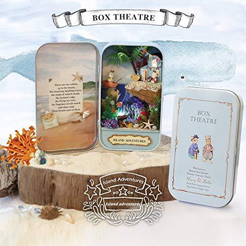 DRAKE18 DIY handgemachte Villa Gebäude Modell Box Theater Holz kreative Dekoration Geschenk Musik Sound Beleuchtung Fertigprodukte,islandadventure