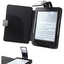 ForeFront Cases® Custodia in similpelle con LUCE Nero - per Nuovo Amazon Kindle 4 Schermo da 6