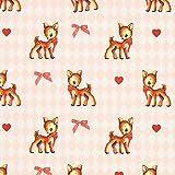 Fabulous Fabrics Dekostoff Perkal Bambi – rosa —