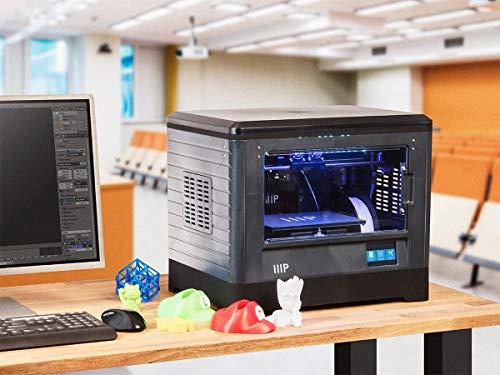 Monoprice Dual Extruder 3D-Drucker - Schwarz mit beheizter Bauplatte (230 x 150 x 160 mm) Vollständig geschlossen, eingebaute Kamera, automatische Wiederaufnahme, Touchscreen, einfaches WLAN - 6