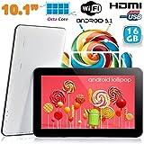 Tablette tactile 10 pouces Android Lollipop 5.1 Octa Core 16Go Blanc