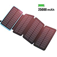 ADDTOP 25000mAh Solar charger Solar Power Bank solar phone charger 1
