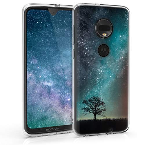 kwmobile Motorola Moto G7 / Moto G7 Plus Hülle - Handyhülle für Motorola Moto G7 / Moto G7 Plus - Handy Case in Blau Grau Schwarz