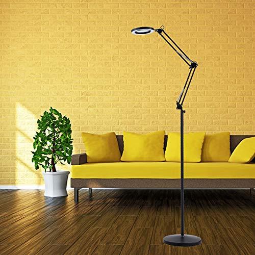 Magnifier Lamp LED Lupenleuchte 16W / 8X Einstellbare Rotating Arm Light Weicher Augenschutz Geeignet Für Tattoo Beauty Wimpern LED Cool Light Black