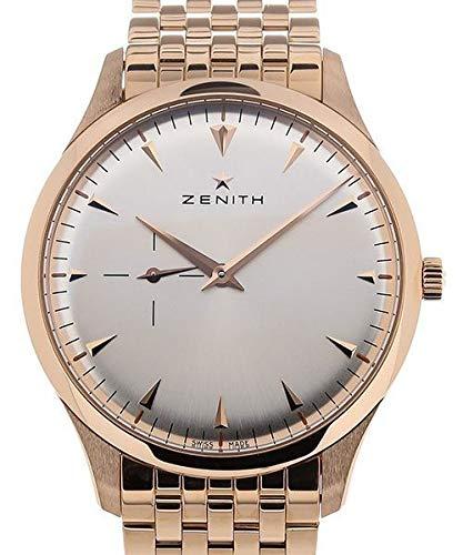 Zenith Heritage - Reloj de Pulsera para Hombre, Ultra Fino, con Esfera Plateada de pequeños Segundos...