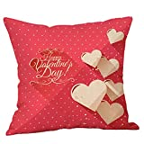 Take My Heart, Carolui Happy Valentines Day Love Pillow Case Home Cushion Cover Linen 18 x 18 Inch … (M)