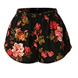 Sannysis DamenBlumenmuster mit hoher Taille Lace Shorts (S, Multicolor2)