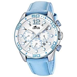 Lotus - 15782/4 - Montre Femme - Quartz Analogique - Chronomètre - Bracelet Cuir Bleu
