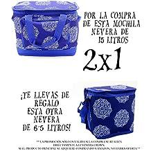 LEYENDAS Bolso Nevera Isotérmica Comida Almuerzo Oferta Color Azul 15 Litros