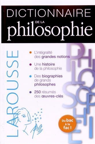 Dictionnaire de philosophie de Thierry Paquot (15 avril 2015) Broché