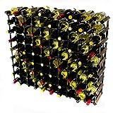 Cranville wine racks Legno Classic 90 Bottiglia in Rovere Tinto Scuro e Metallo zincato Vino Rack autoassemblaggio
