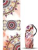 Toalla de Yoga y Pilates UCEC, Diseños Mandala, Toalla esterilla de Yoga Antideslizante,...