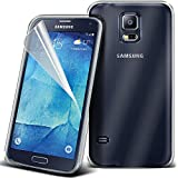 Fone-Case Clear Samsung Galaxy S5 Neo caso cubierta trasera funda Carcasa, Case, Cover Flexable Impact Absorbant Sline Style Gel Cover Made TPU Gel with 1 Screen Protector and 1 Aluminium Adjustable Pen