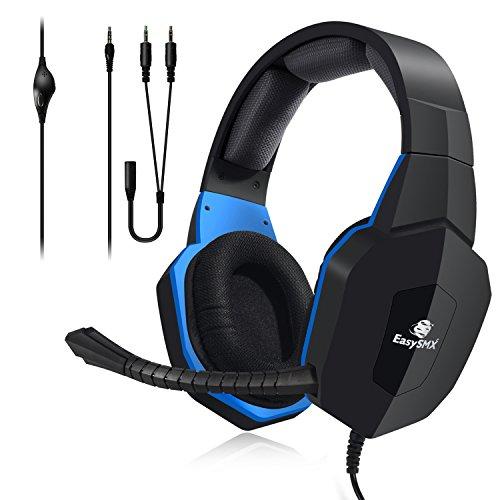 EasySMX esm939p Stereo Gaming Headset mit Kabel für Pro Spieler mit Plug-in Mikrofon für PS4PC/Mac auch kompatibel mit Xbox One (Wenn Sie bereits über ein Microsoft-Adapter oder Kinect) - Juego über