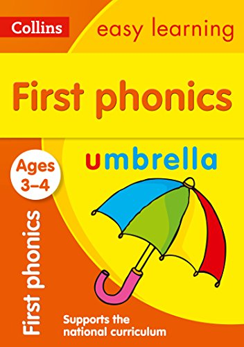 First Phonics Ages 3-4 (Collins Easy Learning Preschool) por Collins Easy Learning