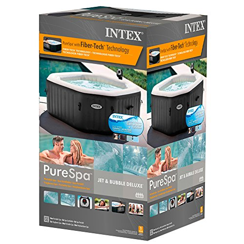 Intex 28454 Pure SPA 79 Zoll Octagon - Bubble, Jet und Salzwassersystem - 7