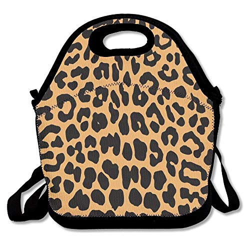 Pzeband Cool Animal Leopard Print Lunch Bag Lunch Tote Lunch Box Handbag for Kids and Adults