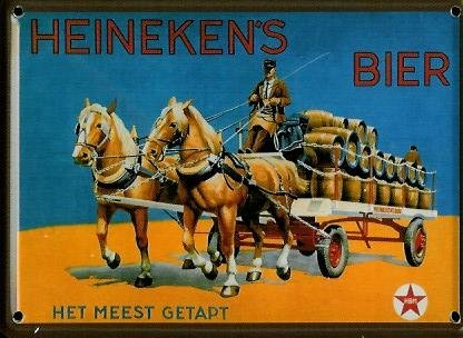 Beer mini-sheet metal design Post card - Heineken - 8 x 11 cm with Retro design Metal plate tin sign