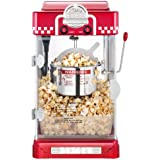 Great Northern Popcorn 2.5 Ounce/ 75ml. Red Tabletop Retro Style Compact Popcorn Popper Machine with Removable Tray