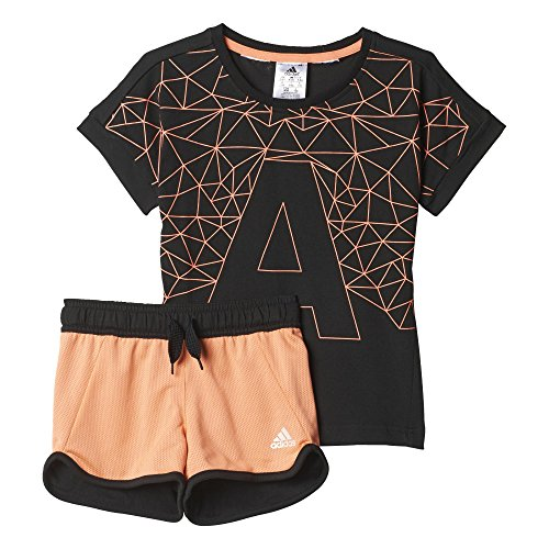adidas Kinder Trainingsanzug LG RI COT Set, Schwarz, 98, 4055017692805 (Training Adidas Shorts Frauen)