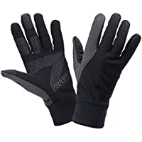 Touch Screen Gloves, OZERO Tech Glove - Hand Warmers - Windproof and Water Resistant - Light Weight Thin - for Running, Golf, Cycling, Riding, Outdoor Sports in Autumn & Winter - for Women and Men - Black (S,M,L,XL)