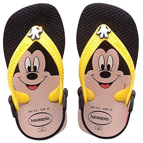 Havaianas Disney Classics Baby Jungen Durchgängies Plateau Sandalen, mehrfarbig (Red/Yellow 3674), 21 EU (19 Brazilian)