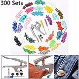 Best GENERIC Baby Gadgets - 30 Colors 300 Sets Resin Snaps Starter Unique Review