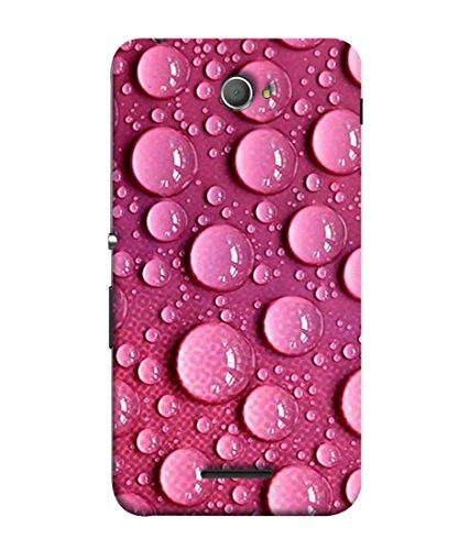 Printfidaa Sony Xperia E4, Sony Xperia E4 Dual Back Cover Pink Water Bubble Pink Design Printed Designer Back Case