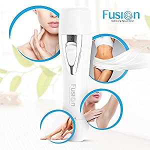 Painless Facial Hair Remover Women | Flawless Ladies Facial Hair Trimmer - Effective Removal of Peach Fuzz, Chin & Upper Lip Moustache Hair | USB Rechargable Lady Face Shaver - Portable Electric Razor