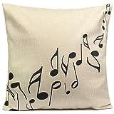 dragonaur Musik Note Weiches Leinen Kissenbezug Home Decor, Leinen, Linen Color, Music Note