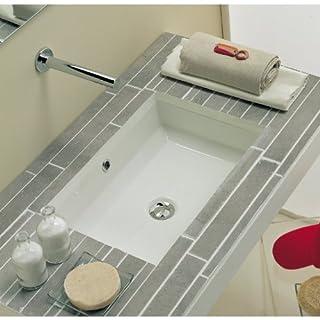Scarabeo 8037-No Hole Tech Rectangular Ceramic Undermount Sink, White