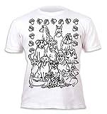 Kinder T-Shirt Jungen Mädchen Dogs. Zum Bemalen und Ausmalen mit Vordruck. Mitgeliefert 6 auswaschbare Magic - Malstifte. Kindergeburtstag. Größe 7-8 Jahre