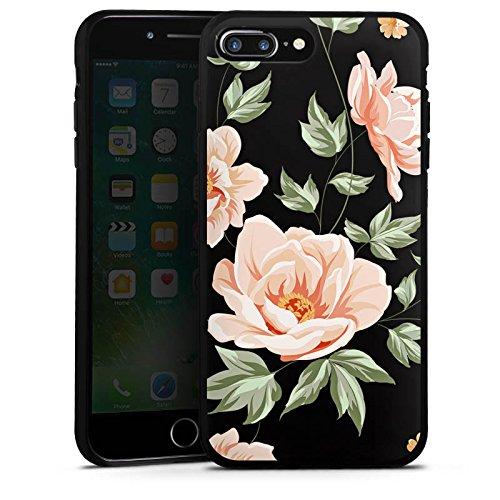 Apple iPhone 4 Silikon Hülle Case Schutzhülle Blume ohne Hintergrund Flower Silikon Case schwarz