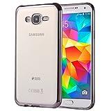 SCSY-case Modetelefonkasten Für Samsung Galaxy Grand Prime / G530 Galvanisieren Soft TPU Schutzhülle Fall (Farbe : Grau)