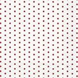 20 Servietten rote Mini-Punkte auf weiß / gepunktet / Muster / zeitlos 33x33cm