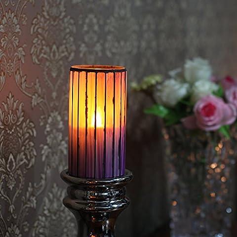 bougies LED avec minuterie et à piles ,violet ,3 x 6 pulgadas (7,6 x 15,24 cm) - Base Citronella Lampada