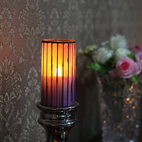 Candele a LED con timer senza fiamma, candela elettrica, della luce della lampada per le decorazioni domestiche del partito, batteria, viola, Inches 3x6 (7.6x15.24 cm)