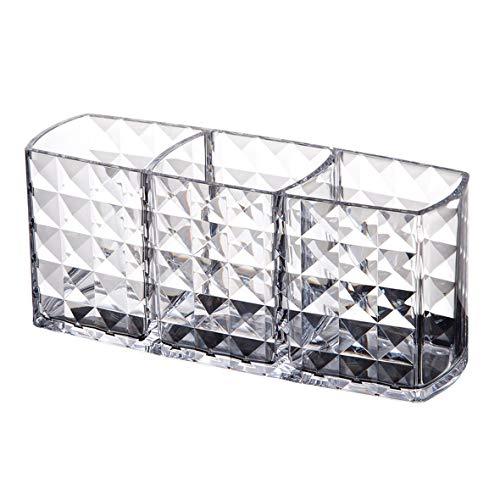 Heaviesk Zwei-Schicht-Acryl tragbare runde Container Aufbewahrungsbox Fall Make-up Veranstalter Wattepad Box Kosmetik Tupfer Q-Tip-Halter -